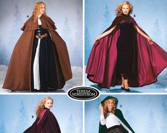 New Victorian Renaissance Braveheart Classic Cape Cloak Pattern 5794 XSM-SM-M-L