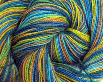 Hand Painted Superwash Merino/Nylon Sock Yarn