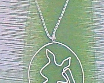 necklace- gamer necklace- pikachu silhouette- geek necklace