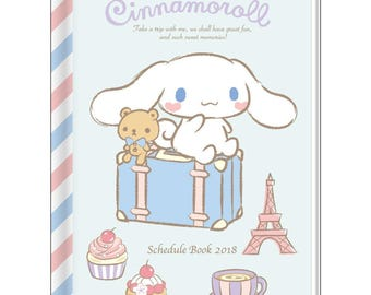 Cinnamoroll Schedule Book 2018 - Agenda  By Sanrio  A6 Size