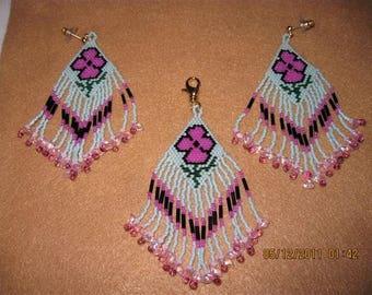Native Style Poppy Zipper Pull with Swarvoski
