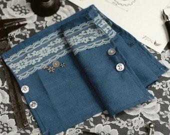 Inventor's Cuffs - Cobalt Blue - Victorian Steampunk