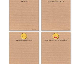 How Is Your Day?  Smiley Face Note Pads