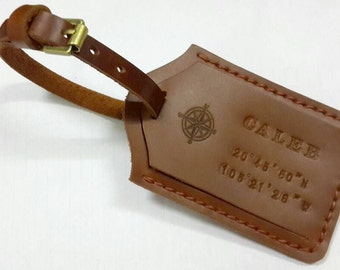 Luggage Tag Holder, Leather Tag, Custom Leather Tag, Leather Luggage Tag, Monogram Luggage Tag,Personalized Luggage Tag,Card Holder,Card Tag
