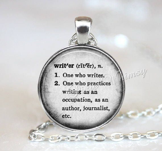 Writer dictionary word definition necklace pendant keychain description writer dictionary word definition pendant aloadofball Choice Image