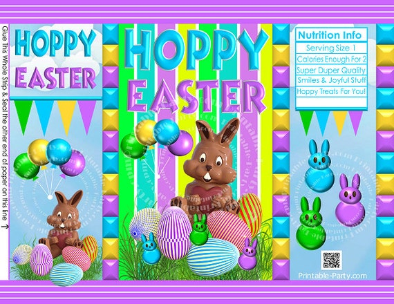 Printable easter treat gift bags easter bunny chip bag negle Image collections