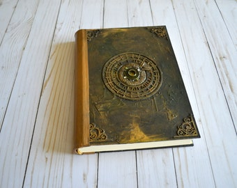 Unique journal book, diary, notebook , spellbook, gift for wizzard witch