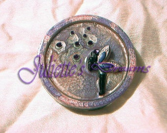 For the September 2015 challenge: sweety winter faery - purple and silver brooch