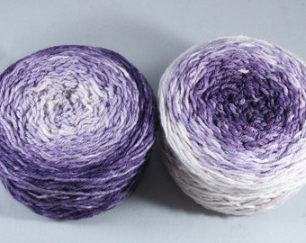 Hand Dyed DK Merino Nylon Ombré Yarn - Parma Violet