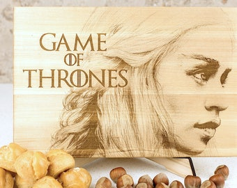Game of Thrones, Targaryen, Cutting Board, gift for her, gift for him, mother of dragon