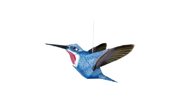 Hummingbird Diy Printable Papercraft Kit Papercraft Pattern Paper