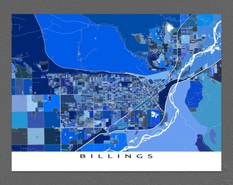 Billings map Etsy