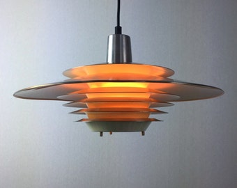 Rare danish space age ceiling lamp by Lyskaer.