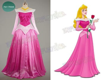 Disney Sleeping Beauty Cosplay, Princess Aurora Costume Adult Women Outfit
