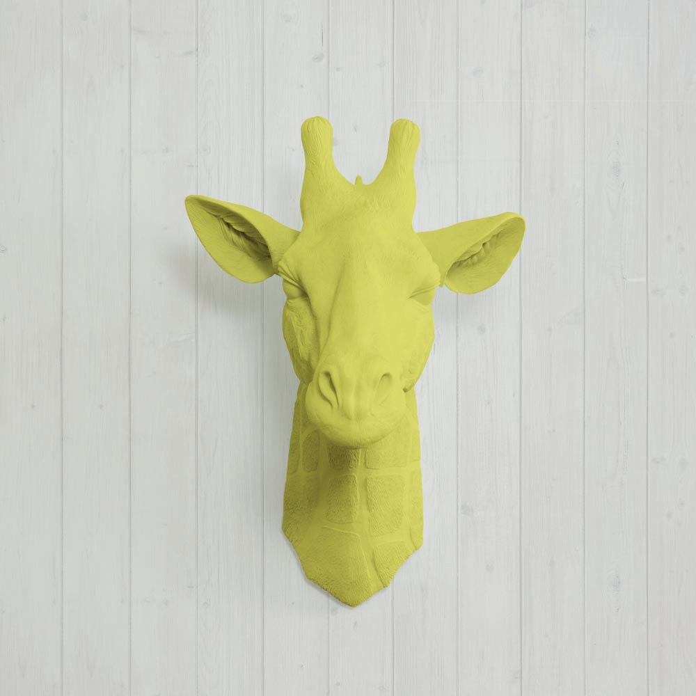 Faux Yellow Giraffe Head by Wall Charmers™ Fake Ceramic