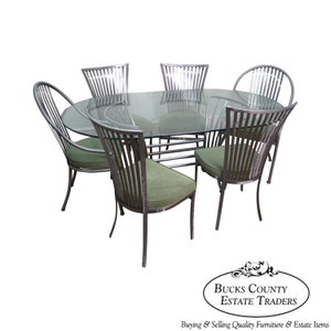 Shaver Howard Steel Frame Dining Table U0026 6 Chairs Set