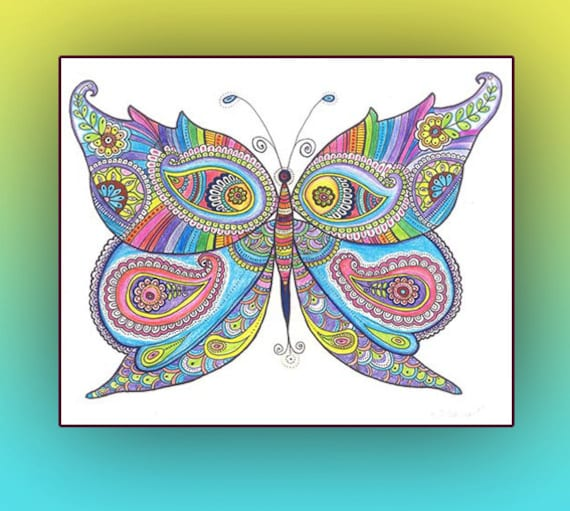 Instant Digital Download PRINT Butterfly Painting Poster
