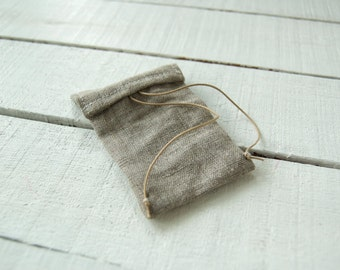 mini doll backpack, Natural Color made in France non dyed Linen , accessories for soft handmade art doll
