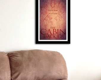 You Can Die - The Cabin in the Woods Inspired - Movie Art Poster
