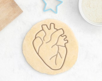 Anatomical Heart Cookie Cutter – Anatomical Cookie Cutter Anatomy Cookie Cutter Halloween Cookies Doctor Gift Human Medical Student Gift