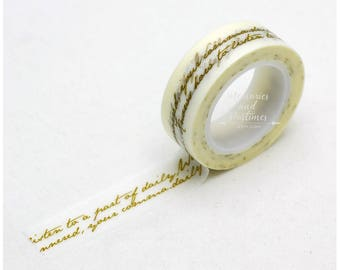 Script Washi Tape - Planner Washi Tape - Scrapbooking Embellishment - Love My Tapes - 029737