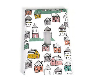 Switch Plate Light Switch Cover in Tiny Town (287)