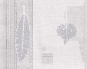 Silver Cream Nature Leaves SF78320B Wallpaper Border