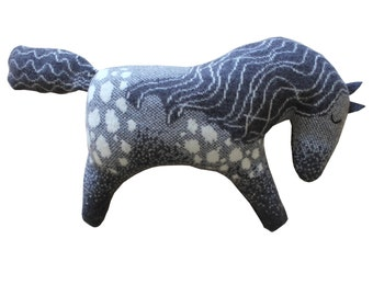Dapple Grey Knitted Lambswool Horse