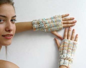 Colorful  Fingerless Gloves Mothers Day Gift