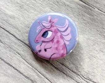 Unicorn pin badge, set of 4, fairytale, unicorn pin, chubby unicorns, unicorn gift, pastel goth, unicorn stocking fillers, kawaii gift,