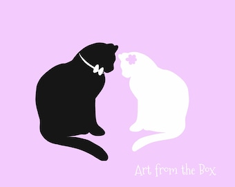 Wedding card, Cat Lover Wedding Gift