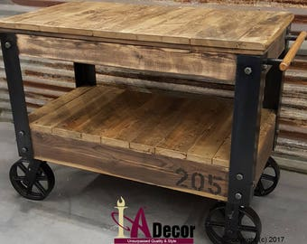 Amazing Cart Table Or Cart Island Factory Cart Table With Large Wheels Reclaimed  Wood Table Reclamed Wood Cart