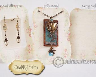 ZOE•SHABBY #4•Earring Cards•Jewelry cards•Necklace Card•Earring Display•Earring Holder•Necklace Holder
