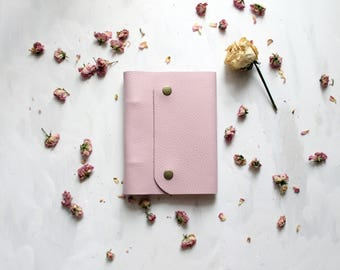 Cute Notebook, Pink Notebook, Leather Journal, Leather Notebook, Small Notebook, Notebook A6, Pocket Notebook, Leather Notebooks, Notebook