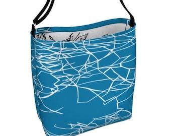 BLUE HANDMADE Designer Handbag/ Shoulder bag/ Handbag/ Purse/ Womens Accessories/ Womens Gifts/ Crossbody Bags/ Bag & Purses/Designer Purse