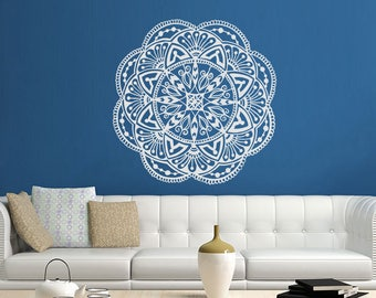 Black Friday Mandala Wall Art Mandala Decal Yoga Studio Decor Bohemian Bedroom Wall Decal Mandala Yoga Wall Decal Yoga Wall Art Decor S19