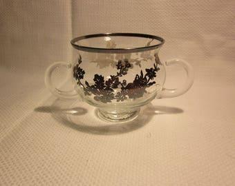 Silver overlay sugar bowl