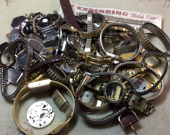 Free US shipping real steampunk mostly watch bands over 1lbs.. lot WB1