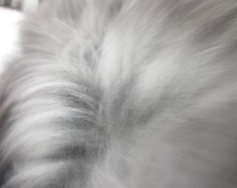 Angora Rabbit Fiber - Gray