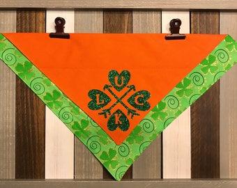 Luck, St. Patricks Day no tie and collar slips through bandana