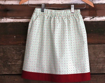 Girls Large Playful Dots Skirt