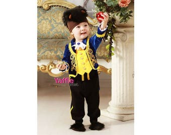 Beast Costume for baby Disney prince suit Beauty and the Beast Halloween outfit for boy photo prop outfits bodysuit birthday christmas gift