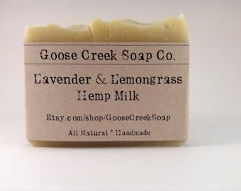 Lavender & Lemongrass Hemp Milk Soap