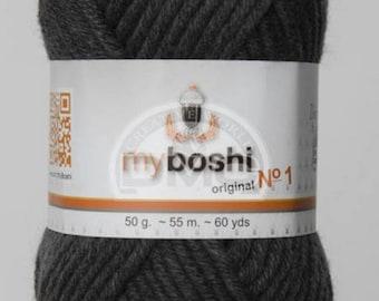 My Boshi yarn charcoal 195