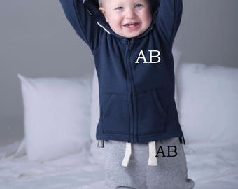 Personalised with initials ~ My First Tracksuit ~ Grey, Navy or Black