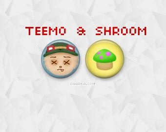 Dead Teemo & Yordle Mushroom (Pin-Back Buttons)