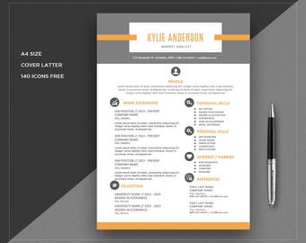 Resume templates Easy edit | CV Template + Cover Letter | Professional and Creative Resume | Teacher Resume | Word Resume | Instant Download