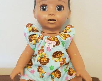Luvabella Doll Clothes - Dora Nightgown