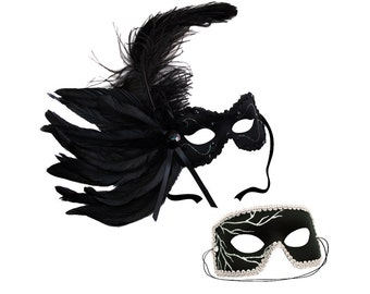 Lola-Black Lightning Couple Masks C-0534B
