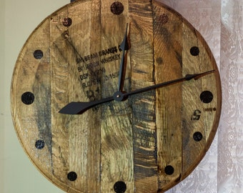 Jim Beam Bourbon Barrel Head Clock